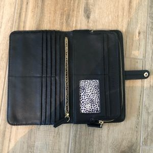 Sole Society travel faux leather wallet